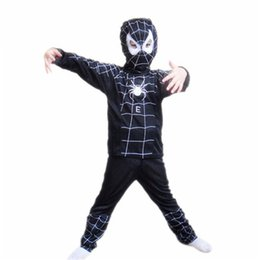 Wholesale Black Superman Movie - halloween costumes Kids Cosplay Costumes Spider Man Superman Batman Suit Kids Cosplay Dress Fancy Dress Halloween Costumes