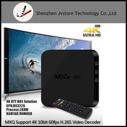 Wholesale 3gp Tv - MXQ 4k Rockchip RK3229 Quad-core Android 6.0 Smart TV Box DDR3 1GB 8GB HD 1080P 4K*2K 2.4G Wifi Streaming