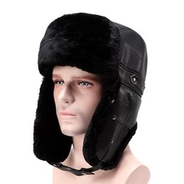 Wholesale Snow Hats - Winter Earmuffs With Thick Woolly Hat Trapper Snow Cap Middle-Aged And Old Fur Hats Hot Sale