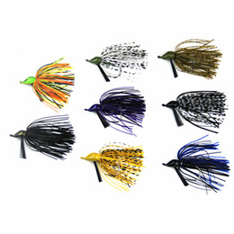 Wholesale Rubber Fish Lures - New Hot JIG Fish Hard Lure Lead Head Hook Anti-hanging Hook Fluff bottom KINGBOX lead head hook lures Rubber ima pesca