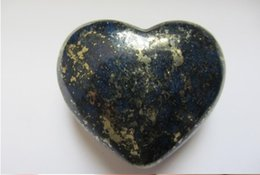 Wholesale Natural Hand Carved Stones - 68.9g natural lapis lazuli heart hand carved stone carving gemstone healing