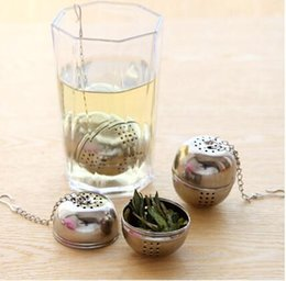 Wholesale Stainless Steel Tea Bag - Creative Genuine Stainless Steel Utility Flavored Make Tea Balls Filter Bags with Food Grade Kitchen Gadgets Tea Strainer Ball Infuser Home