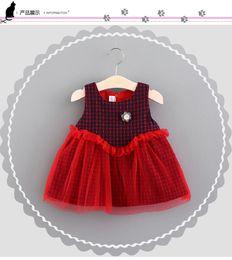 Wholesale Wholesale Long Sleeve Mesh Dress - New arrival Girl dress kids Korean style 100% cotton cotton plaid mesh patchwork kids girl princess dress long sleeve dress 2 colors