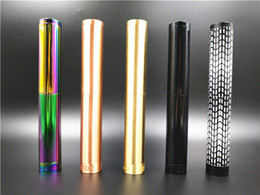 Wholesale E Cigarette Tube Mod - Broadside Mod Double Tube Extended Edition Mechanical Mod fit 18650 Battery 510 RDA Atomizer E Cigarette DHL Free