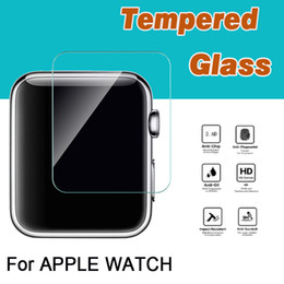 Wholesale Tempered Screen Guard - Tempered Glass 9H Proof Premium Explosion Real Guard Protective Screen Protector For Apple Watch iWatch Series 1 2 3 38mm 42mm Smart Sport
