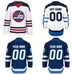 Logotipo personalizado on-line-Winnipeg Jets Jersey S-5XL Personalizado Camisas Personalizadas Com Qualquer Nome e Qualquer Número 100% Costurado Bordado Logos Hóquei Jerseys