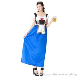 Wholesale Germany Clothes - Club Germany beer festival costumes The maid maid outfits Bavarian tradition clothing beer dress costumes Halloween costume