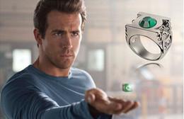 Wholesale Green Lantern Ring Jewelry - Men Ring Green Green Lantern Emerald Engagement Wedding Ring For Men Genuine 925 Sliver Gem Stone Fine Jewelry Women Men Gemstone Rings