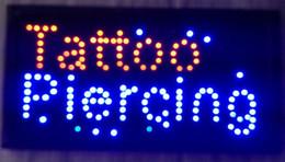 Letra personalizada levada sinal on-line-2016 venda quente de baixa potência semi-ao ar livre Ultra Brilhante personalizado 10X19 Polegada Tatuagem Piercing carta levou sinal Atacado