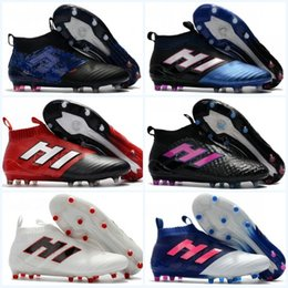 Wholesale Soccer Indoor Shoes Messi - With Box Mens Soccer Shoes High Ankle Football Boots Dragon ACE 17 PureControl FG Pure control NSG 17.1 messi Soccer Cleats