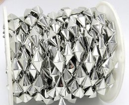 Canada 20yard Diamond Tip Perles UV plaqué garniture de chaîne pour la couture Sac Apperal Chaussures Cap Collar Décoration cheap bag bead caps Offre