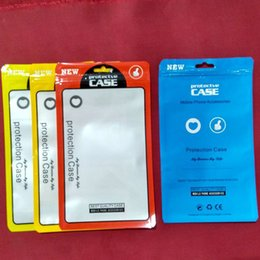 Wholesale mobile accessories packaging - 12*21cm Mobile phone shell Data line packing bag Plastic Retail packaging package pouch bag for mobile Cell phone Cable Case accessories