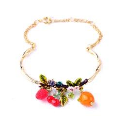Wholesale Personalized Food Gifts - Personalized Bracelet Boutique Gold Fruit Pendants For Women Summer Style Brisk Shijie Brand Cheap pendant lantern