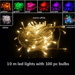 Wholesale Projector Pink - 10m led light bulbs Christmas decorations outdoor led christmas lights led projector home garden party ornaments Flash led lights UL-list
