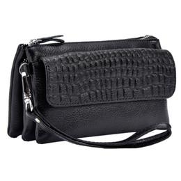 Wholesale Orange Wristlet Bag - Free shipping Women's Soft 2015 Spring New Arrival Genuine Leather Purse Organizer Wallet Zipper Coin Bag Wristlet Crossbody Shoulder SL709