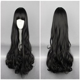 Wholesale Wigs Boy - Anime Rwby Blake Belladonna Black 70cm Long Wavy High Quality Synthetic Fashion Anime Women Cosplay Wig
