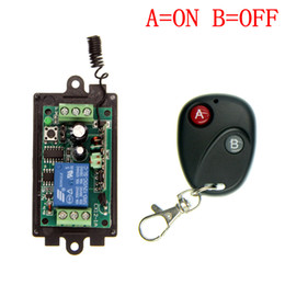 Wholesale DC V V V CH CH RF Wireless Remote Control Switch System MHZ Transmitter Receiver Latched A ON B OFF