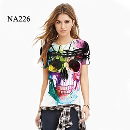 Wholesale Galaxy Print T Shirts - Funny 3D Summer Fashion Colorful Skull Galaxy Cool Lion Thundercat T-Shirt Casual Harajuku Tees Couple Brand Design Clothes for Women Men