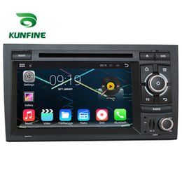 Wholesale Audi A4 Stereo - Quad Core 1024*600 Android 5.1.1 Car DVD GPS Navigation Player Car Stereo for Audi A4 S4 RS4 2002-2008 Radio 3GWifi Bluetooth