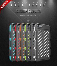 Sharp Sword Caseology Robuste Antichoc Armure Hybride Double Couche Soft TPU En Caoutchouc Dur PC Case Pour iPhone 6 6S Plus Samsung Galaxy S7 Edge ? partir de fabricateur