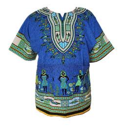 Wholesale Traditional Design Dresses - New African Dashiki Fashion Design African Traditional Floral Print Dashiki Dress