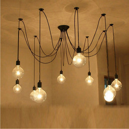 2020 lampadari a bulbo industriale edison MODERN Mouse sull'immagine per ingrandirla New-Industrial-Vintage-Edison-Pendant-retro-Chandelier-light-bulbs-included New-Industrial-Vintage sconti lampadari a bulbo industriale edison