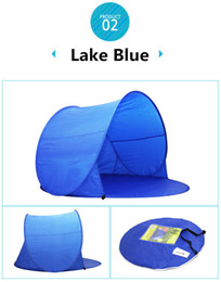 Wholesale Red Car Sun Shade - Outdoors DHL 3-6 Days Summer Hiking Tents Outdoors Camping Shelters for 2-3 People UV Sun Shelter Shade Protection 30+ Tent for Beach Travel