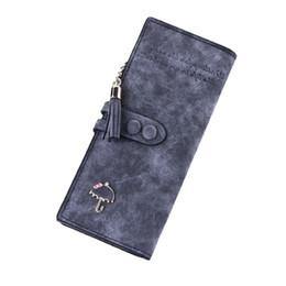 Wholesale Fur Clutch Black - S5Q Women Vintage Fold Zipper Clutch Wallet Card Holder Case Leather Long Purse AAAFYL