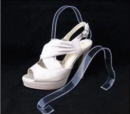 le scarpe di visualizzazione del sandalo del supporto dei talloni delle donne portano le scarpe di piegamento acriliche espositori dell'esposizione dei vestiti dello scaffale 10pcs / lot da