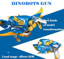 Wholesale Toys Dinosaurs Dragon - Transformable Toy Gun Can Shoot EVA Soft Bullet Change Into Dinosaur Dragon Gift For Boy dinobots gun Soft bullet Pterosaur