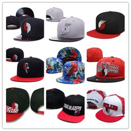 Wholesale Free Blazers - 2017 Portland Basketball Snapback Baseball Snapbacks Football Snap Back Hats Womens Mens Flat Caps Hip Hop Caps Trail Blazers Sports Hats