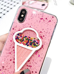 Wholesale Quality Ice Cream - New Ice Cream Pink Color High Quality TPU Soft Case For iPhone X 8 8plus 7 6s Case with Retail Package Free Shipping