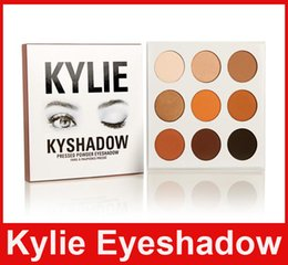 Wholesale China Eyes Makeup - Kylie Kyshadow Pressed Powder Eye Shadow Bronze Palette Kyshadow Kit Creme Shadow Kylie Jenner Cosmetics 9 Colors Eyes Makeup Kit China post