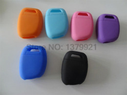 Wholesale Key Cover Renault - Free Shipping silicone car key cover Case Shell for Renault Twingo Clio Master Kango 1 Buttons key cover