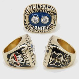 Wholesale Stanley Cup Championship Rings - Wholesale NHL Ring 1981 New York Islanders Stanley Cup Championship Ring for Men Wedding Jewelry Ring