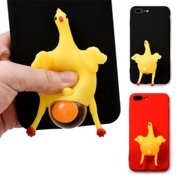 Wholesale Wholesale Vent Covers - Fashion 3D Cartoon Vent chicken Soft Silicone Case For Iphone 7 6 S 6S Plus Cute Funny Lay eggs Phone Cover For Iphone 7 Case