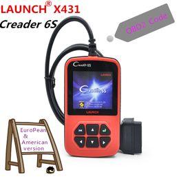 Wholesale Obd2 Launch X431 - 100% Original Launch X431 Creader 6 Plus Launch Creader 6S OBD2 Code Reader scanner European & American version DHL freeshipping