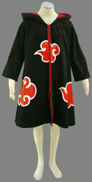 Wholesale Costume Characters For Sale - Top Sale Cartoon Character Naruto Akatsuki Uchiha Sasuke Cosplay Costume Robe Uniform Coat Black Printing Cloak For Unisex