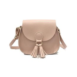 Wholesale Cross Body Bags For Girls - Brand Women Saddle Simple Shoulder Bag Fashion Tassel Mini Handbags Cheap Small Crossbody Bag For Girls Lady Cute Messenger Bags Kawaii