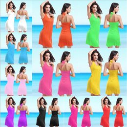 Wholesale Double Shoulder Waist - Hot Crochet Dress Female Beachwear Victoria Style Vintage Double shoulder straps V neck 11 Colors S M L XL