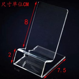 Wholesale White Acrylic Display Stands - DHL fast delivery Acrylic Cell phone mobile phone Display Stands Holder stand for 6inch iphone samsung HTC