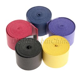 Wholesale Hot Rolling Cheap - Wholesale-New Hot Cheap Sweatband Anti-slip Absorb Sweat Racquet Over Grip Overgrip Roll Bat Outdoor Sports Squash Tape Bands Free Ship