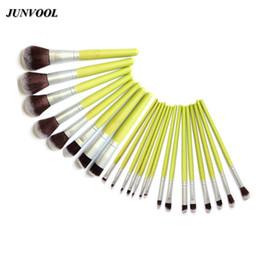 Wholesale 23pcs Makeup Brushes - 23pcs Bamboo Brush Makeup Brushes Set Artifical Synthetic Hair Powder Blusher Foundation Eyeshadow Cosmetic Brush Tools Green