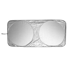 Wholesale rear protection - Wholesale- Window Solar Protection Front Rear Windshield Car Window Foldable Shade Shield Cover Visor UV Block for Front Rear Windshield
