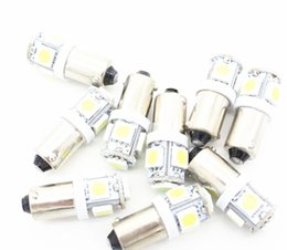 2019 advertencia de las luces del visor 9 unids / lote Car Lamps T11 Car Bulbs BA9S 5050 SMD LED Tower Indicator Bombilla Interior Lámparas