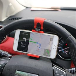 Wholesale Accord Steering Wheel - Universal Car Steering Wheel Clip Mount Holder for iPhone Android Phone Honda Accord Civic CRV HR-V Odyssey Si Fit Pilot shadow 2017