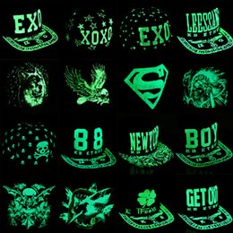 Wholesale Vogue Snapback Hat - 2016 Vogue Women Men Fluorescence hip hop Polo hats Luminous sport baseball caps Casquette superman light snapback hat