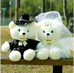 Wholesale Teddy Bear Finger Puppets - New Fund Sell Like Hot Cakes Lovers Wedding Doll Dress Bear Plush Toy Teddy Bear Doll Toys