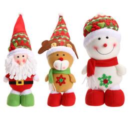 Wholesale Lovely Santa Claus - Xmas Christmas Santa Claus Snowman Reindeer Doll Ornament Gift Lovely Cartoon Home Christmas Decoration Supplies