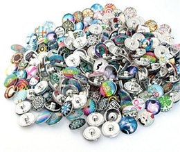 Wholesale Mix Silver Jewerly - 100Pcs Mix Style Round Alloy 18mm Button NOOSA Ginger Snap Charms Jewelry Interchangeable Jewerly Charms Pendants Necklace 2016 Charms